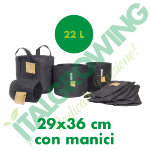 ROOT POUCH-VASO IN TESSUTO GEOTESSILE 22L CON MANICI Root Pouch 4,90€