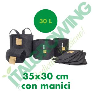 ROOT POUCH-VASO IN TESSUTO GEOTESSILE 30L CON MANICI Root Pouch 5,50€