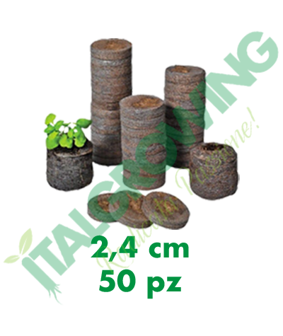 Jiffy Dischetti Di Torba 2,4 Cm (50 Pezzi) Jiffy 6,50€