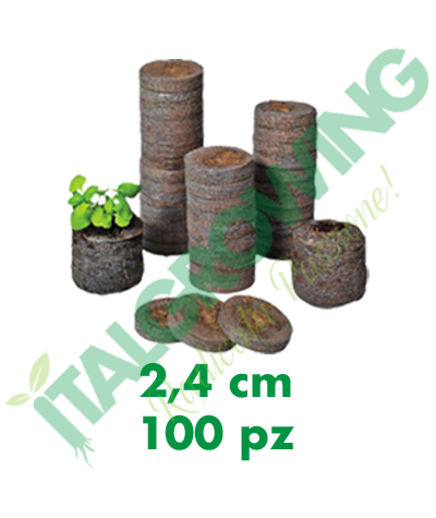 Jiffy Dischetti Di Torba 2,4 Cm (100 Pezzi) Jiffy 12,50€