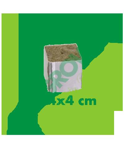 Cubo Di Lana Di Roccia Per Germinazione 4x4x4 (Con Foro) Cultilene 0,25€