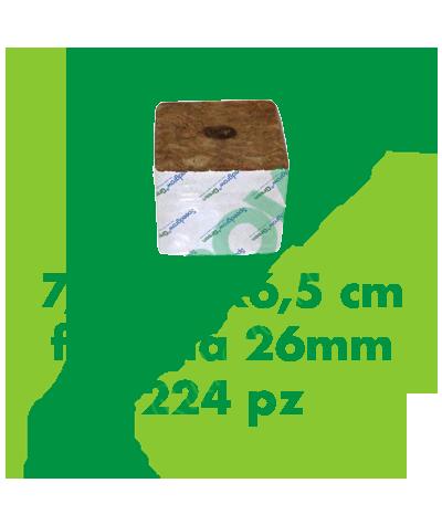 Cubo Di Lana Di Roccia Speedgrow 7,5x7,5x6,5 (Foro 26 mm) 224 Pezzi  85,00€