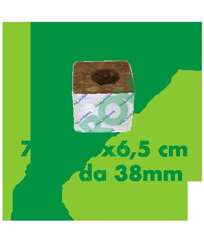 Cubo Di Lana Di Roccia Speedgrow 7,5x7,5x6,5 (Foro 38 mm)  0,40€
