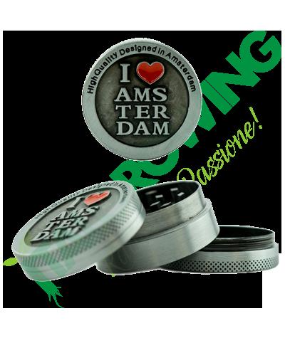 I Love Amsterdam Mini Grinder 3 Parti in Metallo  9,00€