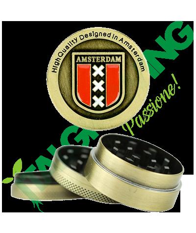 Amsterdam Mini Grinder 3 Parti in Metallo  9,00€