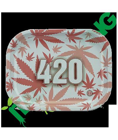 Vassoio in Metallo 420 Pink Leaf  6,90€