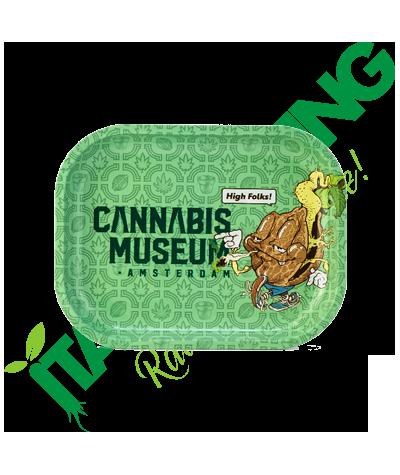 Vassoio in Metallo Cannabis Museum Collection Logo Mascot  6,90€