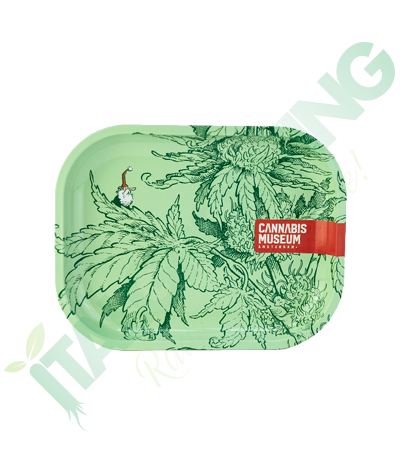 Vassoio in Metallo Cannabis Museum Collection Planet Green Gnome Rolling  8,90€