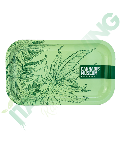 Vassoio in Metallo Cannabis Museum Collection Plant Green  8,90€