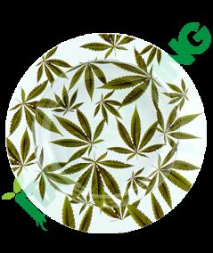 Posacenere in Metallo White Leaf