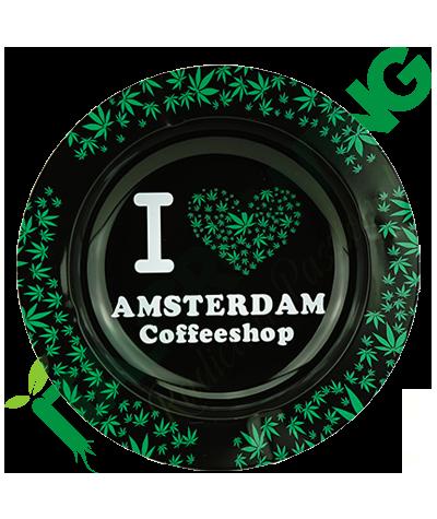 Posacenere in Metallo I Love Amsterdam Green  3,90€