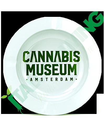 Posacenere in Metallo Cannabis Museum White  3,90€
