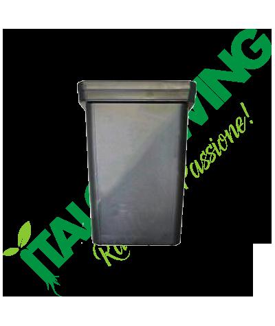 Vaso Anti-Stress Quadrato Nero 15x15x18,5 - 3,5L  0,90€