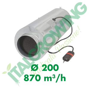 ESTRATTORE ELICOIDALE CAN FILTERS ISO-MAX 200 (870 M3/H) 3 VELOCITA' Can-Filters 319,90€