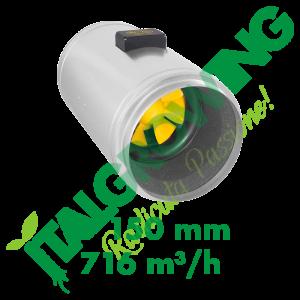 ESTRATTORE ELICOIDALE SILENZIATO CAN FILTERS Q-MAX EC 150 (716 M3/H) Can-Filters 439,00€