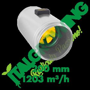 ESTRATTORE ELICOIDALE SILENZIATO CAN FILTERS Q-MAX EC 200 (1203 M3/H) Can-Filters 559,00€