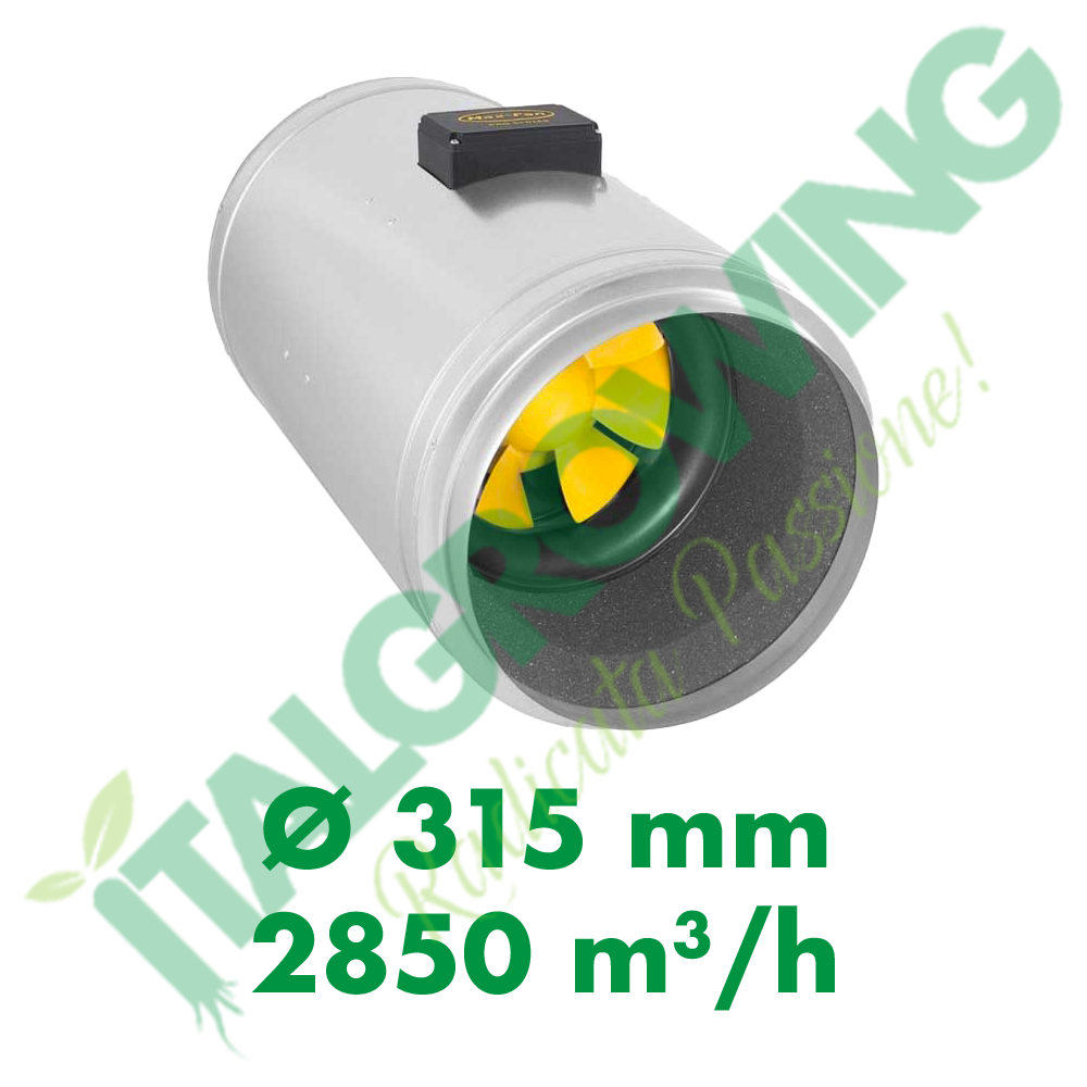 ESTRATTORE ELICOIDALE SILENZIATO CAN FILTERS Q-MAX EC 315 (2850 M3/H) Can-Filters 884,30€