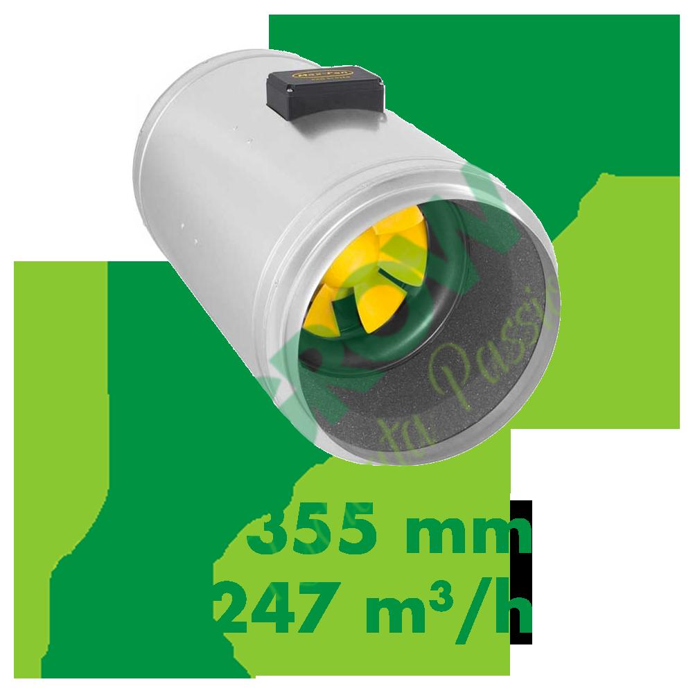 ESTRATTORE ELICOIDALE SILENZIATO CAN FILTERS Q-MAX EC 355 (3247 M3/H) Can-Filters 999,00€
