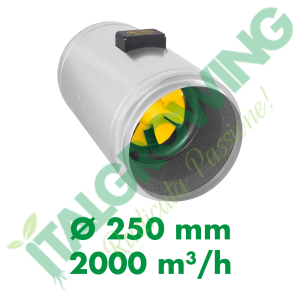 ESTRATTORE ELICOIDALE SILENZIATO CAN FILTERS Q-MAX EC 250 (2000 M3/H) Can-Filters 698,00€