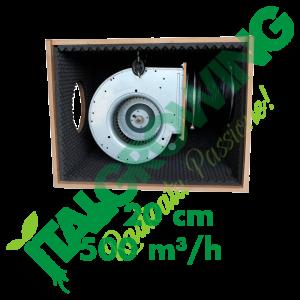 ESTRATTORE SUPER INSONORIZZATO CYCLONE SOFT-BOX IN LEGNO HDF 20 CM (500 M3/H) Cyclone 199,00€