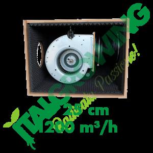 ESTRATTORE SUPER INSONORIZZATO CYCLONE SOFT-BOX IN LEGNO HDF 25 CM (1200 M3/H) Cyclone 349,90€