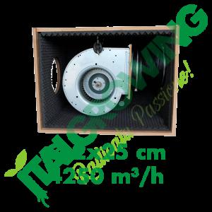 ESTRATTORE SUPER INSONORIZZATO CYCLONE SOFT-BOX IN LEGNO HDF 2X25 CM (4250 M3/H) Cyclone 502,00€